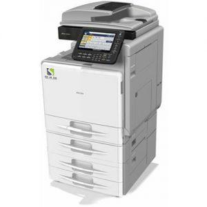 מדפסת משולבת מחודשת צבעונית RICOH AFICIO MP C300 השכרת מדפסות השכרת מכונות צילום